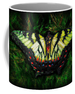 Coffee Mug featuring the photograph Tiger Swallowtail by Iowan Stone-Flowers