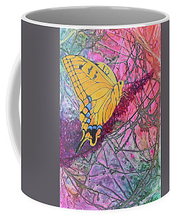 Coffee Mug featuring the painting Tiger Swallowtail by Nancy Jolley
