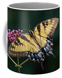 Coffee Mug featuring the photograph Tigress And Verbena by Byron Varvarigos