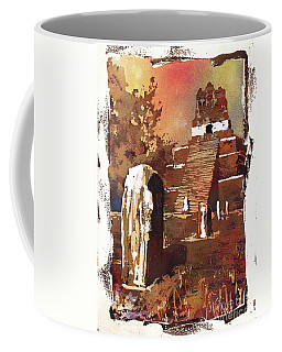 Coffee Mug featuring the painting Tikal Mayan Ruins- Guatemala by Ryan Fox