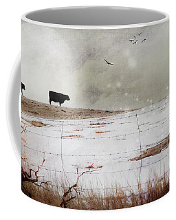 Coffee Mug featuring the photograph 'til The Cows Come Home by Theresa Tahara