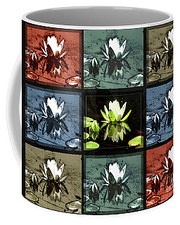 Tiled Water Lillies Coffee Mug