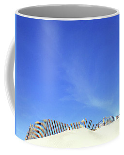 Tilted Dune Fence Coffee Mug by Stan  Magnan