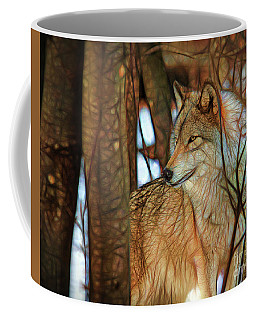 Timber Wolf Colorful Art Coffee Mug