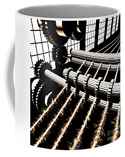 Coffee Mug featuring the digital art Time Aerials Industrial Revolutions by Russell Kightley