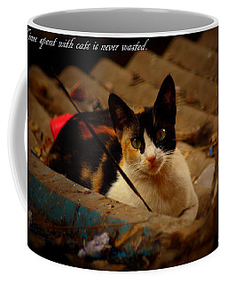Time Spent With Cats. Coffee Mug by Salman Ravish
