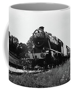Coffee Mug featuring the photograph Time Travel By Steam B/w by Martin Howard