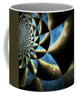 Time Travel Galaxy Portal To The Stars - Blue Coffee Mug
