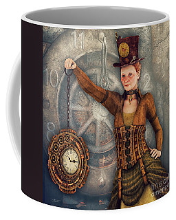 Coffee Mug featuring the digital art Timekeeper by Jutta Maria Pusl