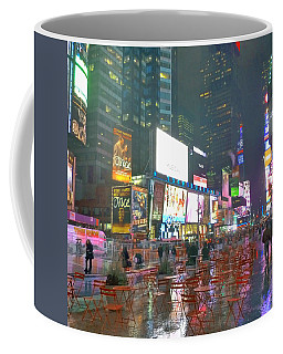 Times Square Red Rain Coffee Mug