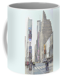 Times Square Street Scene Coffee Mug by Dyle Warren
