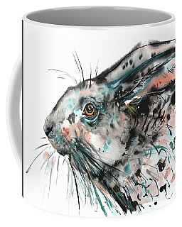Timid Hare Coffee Mug by Zaira Dzhaubaeva