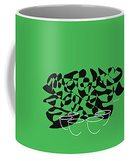 Coffee Mug featuring the digital art Timpani In Green by Jazz DaBri