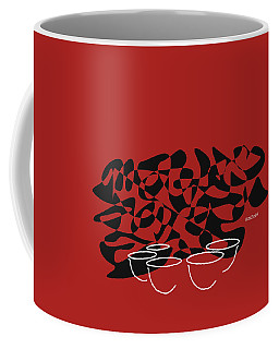 Coffee Mug featuring the digital art Timpani In Orange Red by Jazz DaBri