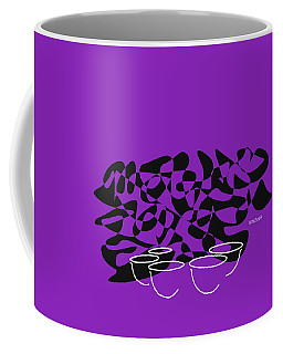 Coffee Mug featuring the digital art Timpani In Purple by Jazz DaBri
