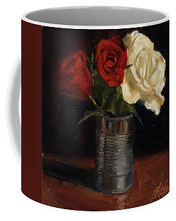 Coffee Mug featuring the painting Tin Can Love by Billie Colson