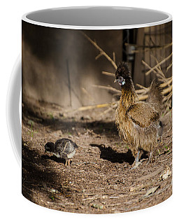 Coffee Mug featuring the photograph Tiny And Babies by Donna Brown