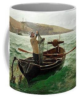 Tipping Out A Shrimp Trawl Coffee Mug
