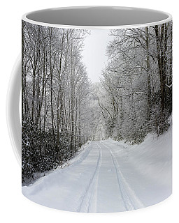 Tire Tracks In Fresh Snow Coffee Mug