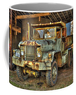 Tired And Retired Us Army M930 Dump Truck Coffee Mug