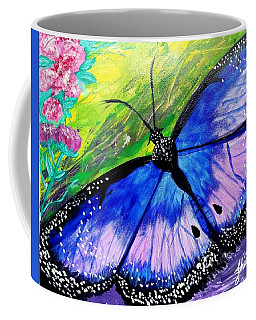 Titanium Butterfly Coffee Mug