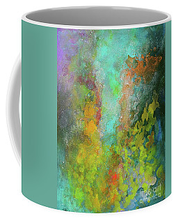 Title. Allegro Abyss. Abstract Acrylic Painting. Coffee Mug
