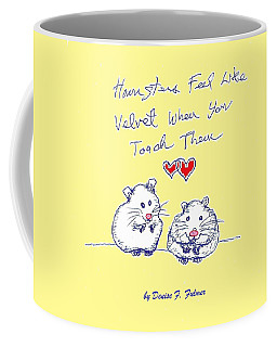 Coffee Mug featuring the drawing Title Page For Hamster Book by Denise Fulmer