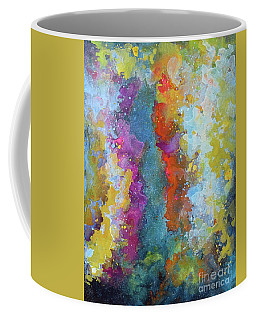 Title. Symphonic Nebula. Abstract Painting. Coffee Mug