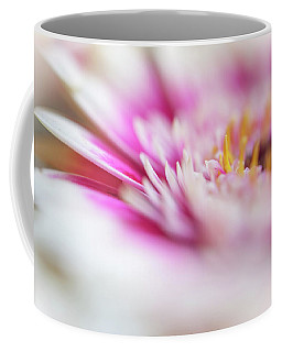 Coffee Mug featuring the photograph To Live In Dream 1. Macro Gerbera by Jenny Rainbow