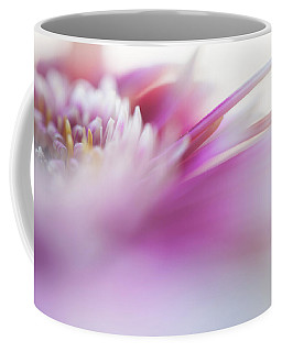 Coffee Mug featuring the photograph To Live In Dream. Macro Gerbera by Jenny Rainbow