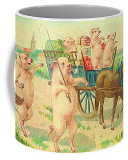 To Market To Market To Buy A Fat Pig 86 - Painting Coffee Mug