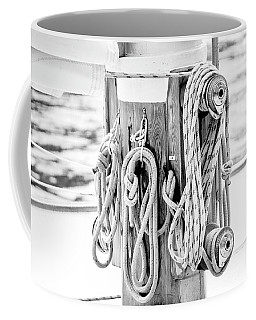 Coffee Mug featuring the photograph To Sail Or Knot by Greg Fortier