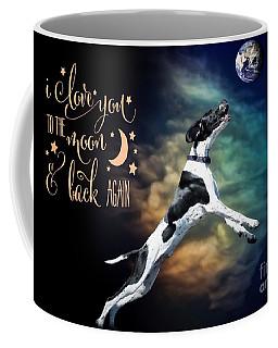 Coffee Mug featuring the digital art To The Moon by Kathy Tarochione