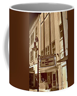 Coffee Mug featuring the photograph To The Movies by Skip Willits