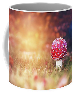Coffee Mug featuring the photograph Toadstool Story by Jaroslav Buna