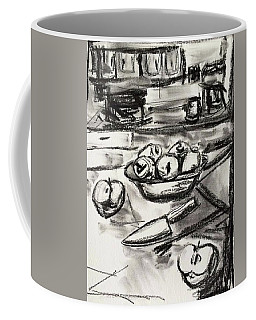 Apples At Breakfast Coffee Mug by Brenda Pressnall