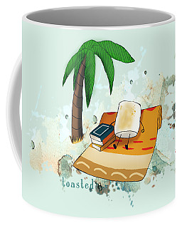 Coffee Mug featuring the digital art Toasted Illustrated by Heather Applegate