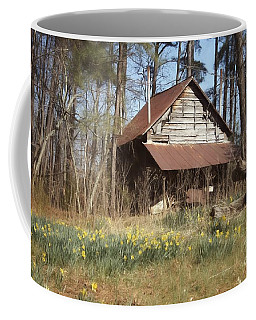 Coffee Mug featuring the photograph Tobacco Barn In Spring by Benanne Stiens