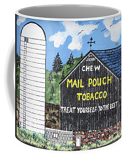 Coffee Mug featuring the painting Pennsylvania Tobacco Barn by Jeffrey Koss
