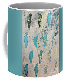 Coffee Mug featuring the painting Tokens by Robin Maria Pedrero