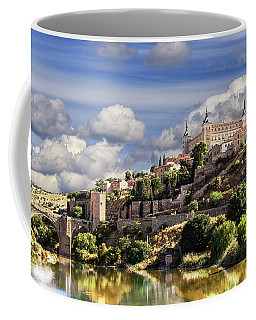 Toledo. Majestic Stone Fortress The Alcazar Is Visible From Any Part Of The City Coffee Mug
