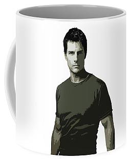 Tom Cruise Cutout Art Coffee Mug
