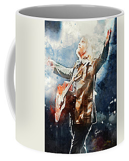 Tom Petty - Watercolor Portrait 13 Coffee Mug