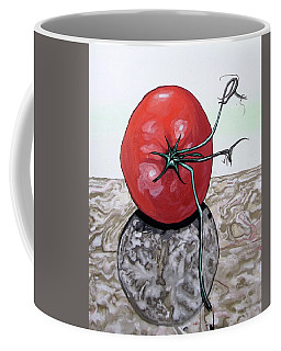Tomato On Marble Coffee Mug by Mary Ellen Frazee