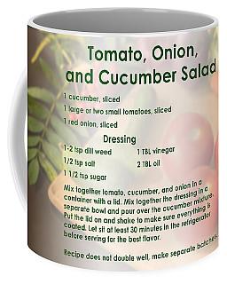 Tomato Onion Cucumber Salad Recipe Coffee Mug