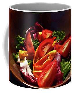 Coffee Mug featuring the photograph Tomato Salad by Rosanne Licciardi