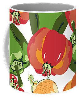 Coffee Mug featuring the digital art Tomato Sauce Ingredients by MM Anderson