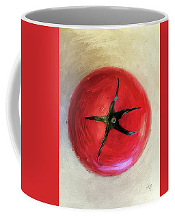 Coffee Mug featuring the digital art Tomato by Lois Bryan