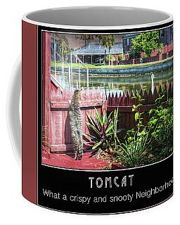 Coffee Mug featuring the photograph Tomcat Breakfast by Hanny Heim