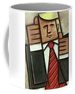 Tommervik Abstract Donald Trump Thumbs Up Painting Coffee Mug